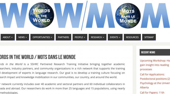 Bourse (MOM) pour étudiante en formation psycholinguistique experimentale / (WOW) Training scholarship for experimental psycholinguistics workshop